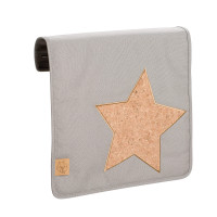 Wechselklappe Casual Messenger Bag Frontcover, Cork Star Light Grey