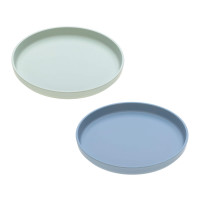 Kinderteller mit Bambus im Set (2 Stk) - Plate, Mint - Blueberry
