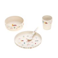 Kindergeschirr Set - Dish Set, Garden Explorer Girls
