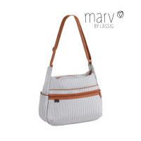 Wickeltasche -  Marv by Lässig Urban Bag, Pinstripe light grey