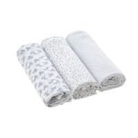 Mulltücher Heavenly Soft Swaddle & Burp Blanket L, Lela Light Grey