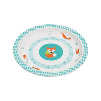 Kinderteller Plate Melamine, Little Tree Fox