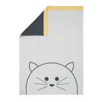 Babydecke - Knitted Blanket GOTS, Little Chums Cat