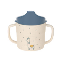 Trinklernbecher Bambus - Bamboo Sippy Cup, Glama Lama Blue