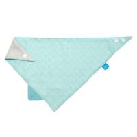 Dreieckstuch Baby - Bandana mit Beißhilfe, Vibration blue