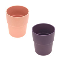 Kinderbecher Bambus Set (2 Stk) - Bamboo Mug, Peach - Plum