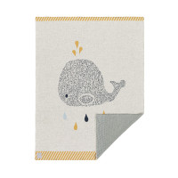 Babydecke - Knitted Blanket GOTS Little Water Whale