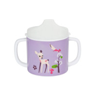 Trinklernbecher 2-handle cup with lid, Little Tree Fawn