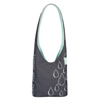 Umhängetasche Charity Shopper Ecoya®, anthracite-misty jade