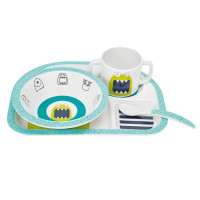 Kindergeschirr Set - Dish Set, Little Monsters Bouncing Bob