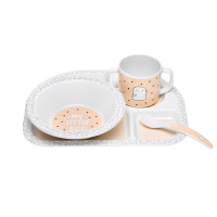 Kindergeschirr Set - Dish Set, Little Spookies Peach