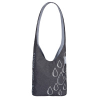Umhängetasche Charity Shopper Ecoya®, anthracite-light grey