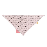 Dreieckstuch Baby Interlock Bandana with silicone teether, Little Chums Mouse