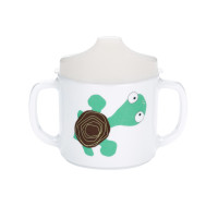 Trinklernbecher 2-handle cup with lid, Wildlife Turtle
