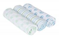 Swaddle & Burp Blanket large Sweet Dreams boys