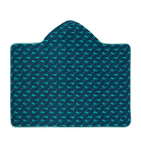 Handtuch Hooded Towel Boys, Blue Whale
